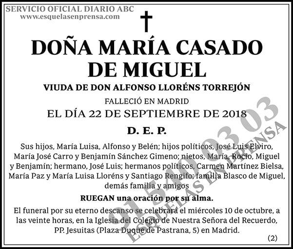 María Casado de Miguel